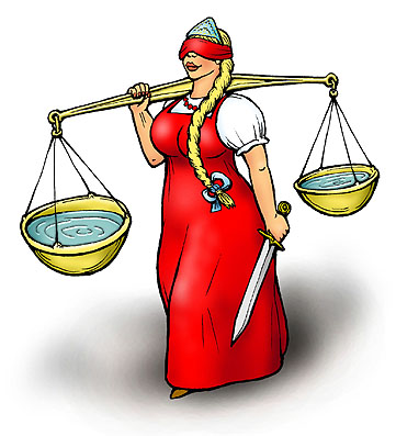 Правосудие рисунок